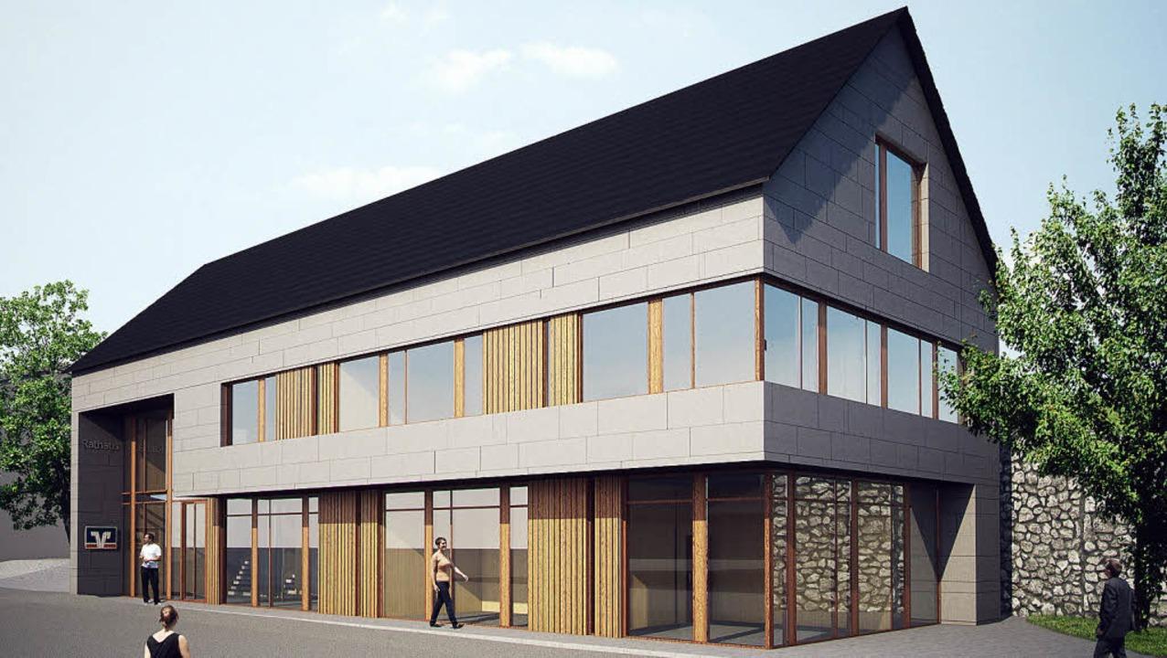 <Text>So soll das neue Rathaus in Biederbach einmal aussehen. </Text>  | Foto: zvg