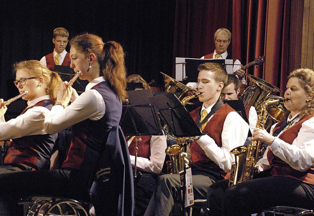 In guter Verfassung präsentierte sich der Musikverein Brombach.  | Foto: Maja Tolsdorf