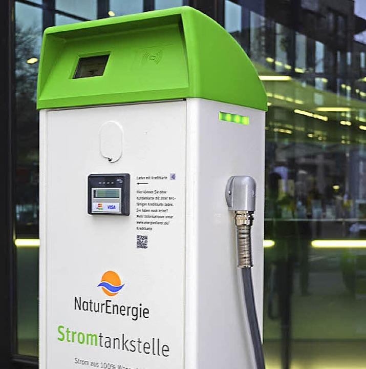 Als Weltneuheit vorgestellt: Schnellla...ar mit allen kompatiblen Kreditkarten.  | Foto: Nikolaus Trenz