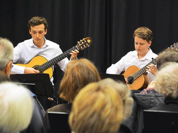 Gitarren-Duo von Stefan Gierden beim Pro Opening im Kammermusiksaal