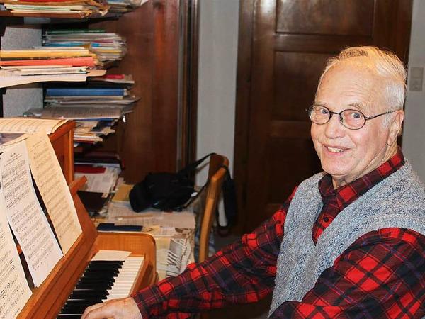 Franz Krumm aus Kürzell ist seit Jahrzehnten Chorleiter in Kürzell und Schwanau.