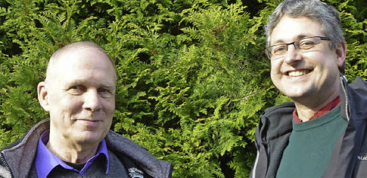 Herwig Popken (links) und Jörg Hinderer   | Foto: Ingrid Böhm-Jacob/Archhiv