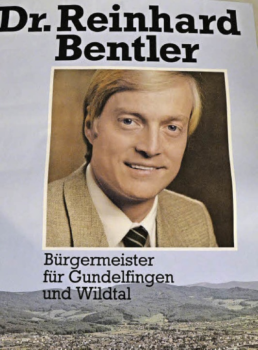Das Wahlplakat von 1982. Seinen Friseur hat er seither beibehalten.  | Foto: Max Schuler