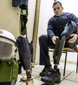 Alexander Butz ist Polizist - obwohl sein Unterschenkel amputiert ist