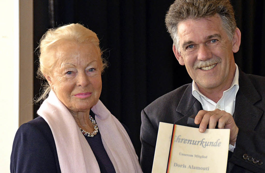 Ehrung im CDU-Stadtverband: Doris Alam... für 25 Jahre Mietgliedschaft geehrt.   | Foto: Nikolaus Trenz