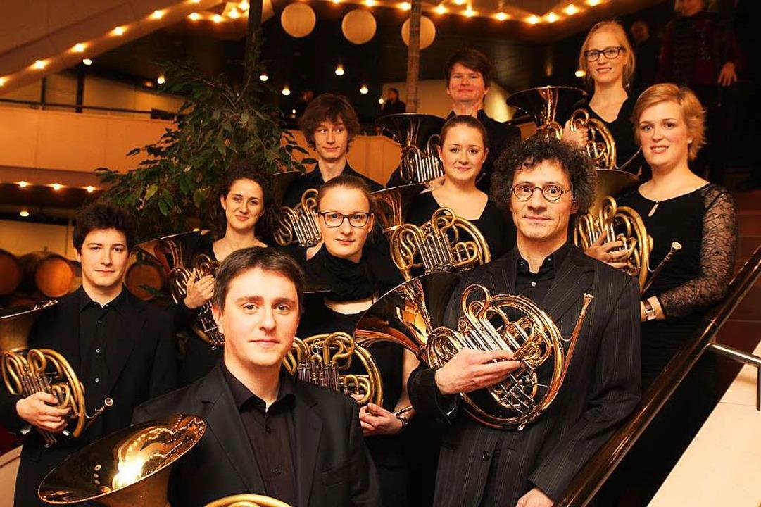 Die Stuttgarter Hornklasse wird in Bre...em Pianisten Andreas Frese auftreten.   | Foto: MIchael Grom
