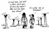 Zwei suizidgefährdete Karikaturisten...
