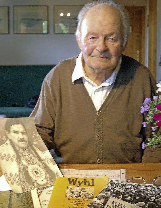 Meinrad Schwörer (83), Wyhl-Veteran un...gierter Naturschützer, ist gestorben.   | Foto: Archivfoto: Truöl