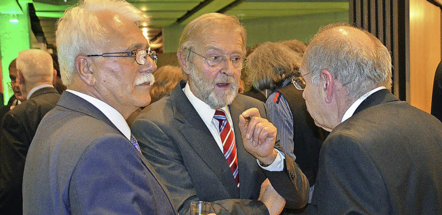 Unter SPD-Männern (von links): Landtag... Alfred Winkler und Kurt Ohlenschläger  | Foto: Ingrid Böhm-Jacob
