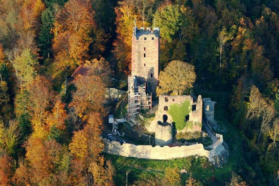 Foto des Jahres 2006: Luftaufnahme der Endinger Kastelburg (Foto: Thomas Maier)
