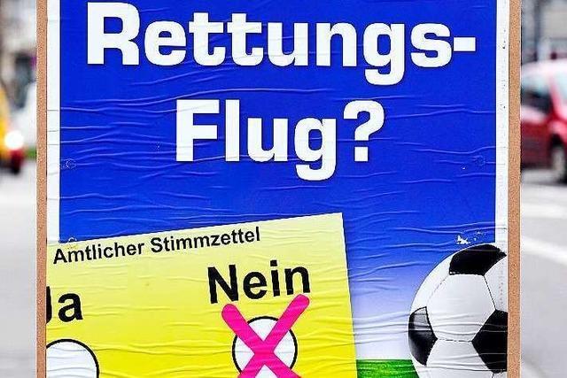 Wahlkampf um neues SC-Stadion: Ein Plakat sorgt für Empörung