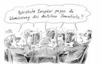 Wenn Pegida-Anhänger mal nicht demonstrieren können . . .