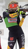 Annika Knoll beim Weltcup in Antholz