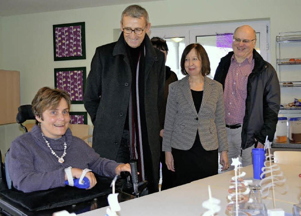 Der Bundestagabgeordnete Armin Schuste...(rechts) über Teilhabe und Inklusion.     Foto: Britta Wieschenkämper