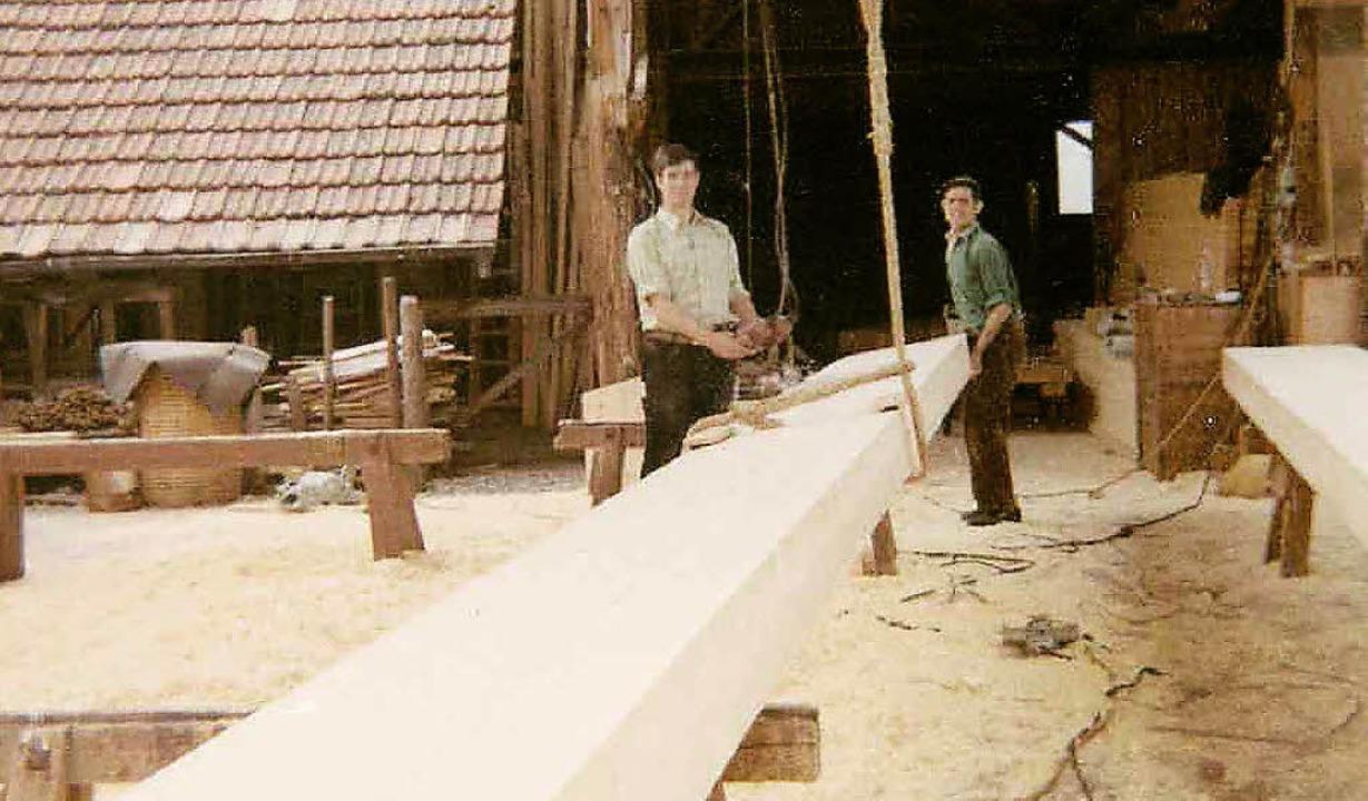 So hat es angefangen: Die Firma Wiedmann in den 60er-Jahren  | Foto: Markus Ruf