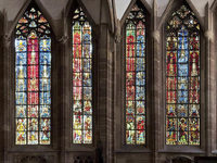 K�nstlerin gestaltet Fenster im Stra�burger M�nster neu