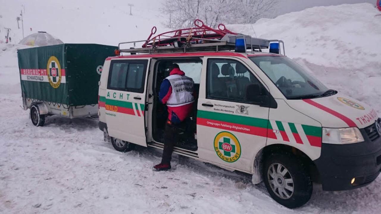 Rettungseinsatz am Feldberg    Foto: Kamera24tv