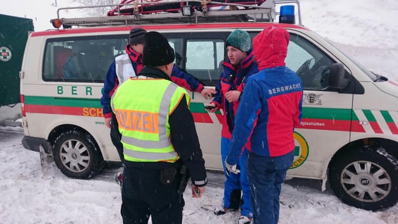 Rettungseinsatz am Feldberg    Foto: Kamera24.tv