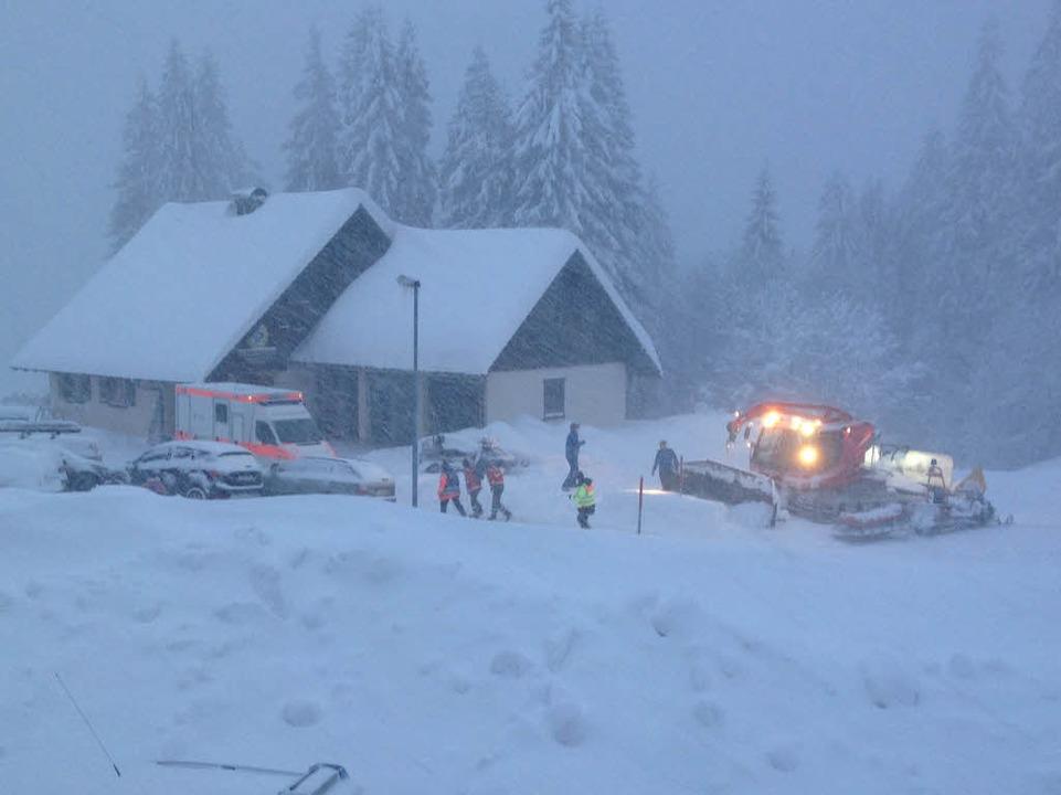 Rettungskräfte am Feldberg    Foto: Max Schuler