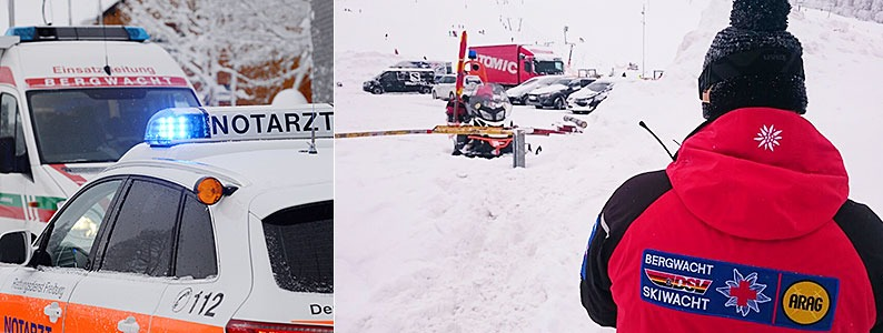 Zwei Menschen sterben bei Lawinenungl�cken am Feldberg und am Herzogenhorn