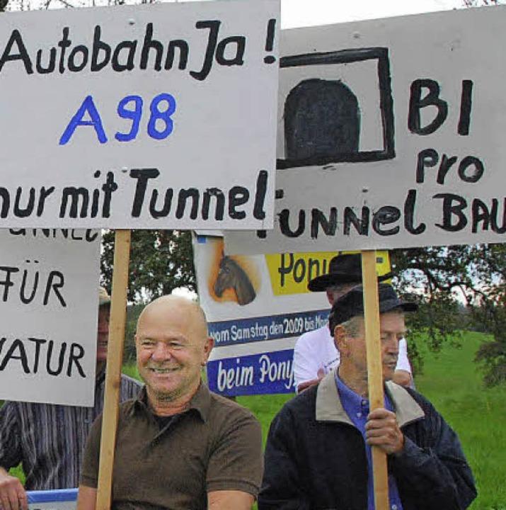 Keine A98 ohne Tunnel sagt die BI.  | Foto: Archiv : Ralf Staub