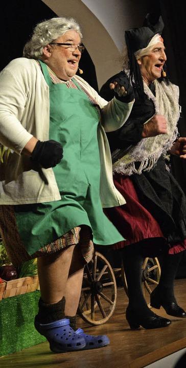 Tanz der Märtwiiber: Klaus Ciprian-Beha (links) und Hansi Gempp  | Foto: Barbara Ruda