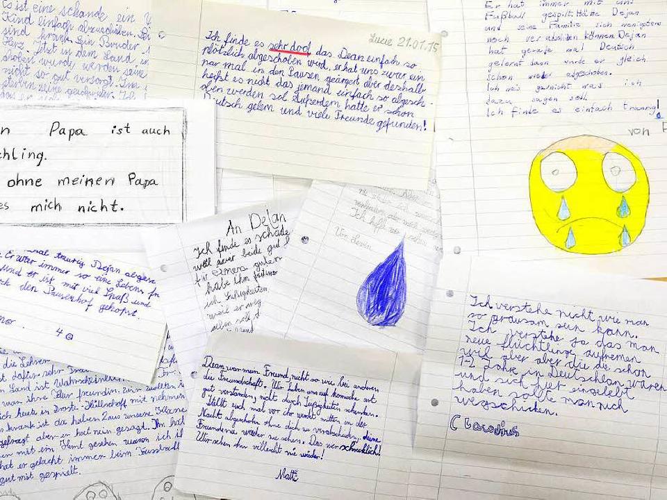 Traurige Briefe der Mitschüler von Dejan Ametovic (10)  | Foto: schneider