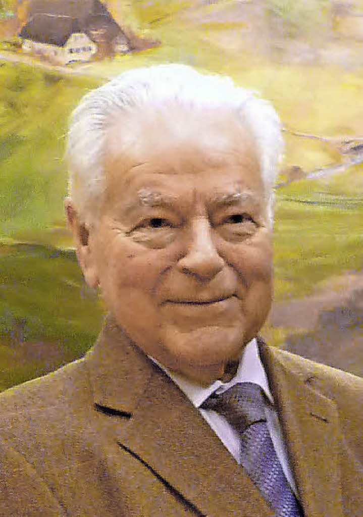 Josef Allgeier war von 1965 bis 1993 Bürgermeister. Foto: <b>Eberhard Weiss</b> - 100082983
