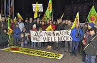 200. Mahnwache in Breisach gegen das AKW Fessenheim