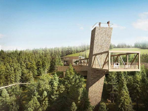 So soll der Skywalk beim Besucherzentrum Nationalpark Schwarzwald am Ruhstein aussehen. Im Vergleich zu anderen  Plattformen sticht seine naturverbundene Konstruktion heraus. Ein weiterer, sehr spektakulärer Skywalk befindet sich...