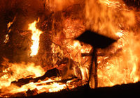 Fasnachtsfeuer auf den Höhen des Markgräflerlands
