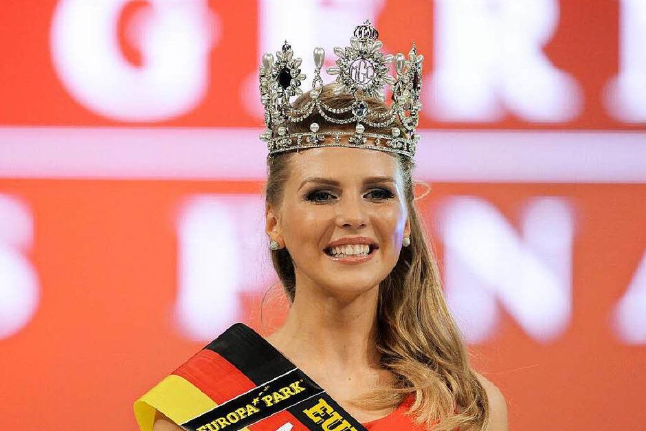Die frisch gekürte Miss Germany 2015: Olga Hoffmann (23) aus Münster. (Foto: dpa)