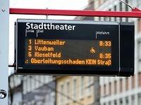 Stra�enbahnen in Freiburg standen stundenlang still