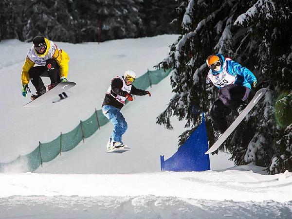 Downhill-Cross am Fahler Loch: Eindrücke von der Qualifikation am Samstag.