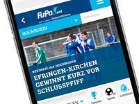 Endlich da: Die neue FuPa-App