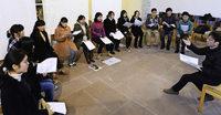 Der Klang von G�nsterstals Liebfrauenkirche fasziniert japanische S�nger