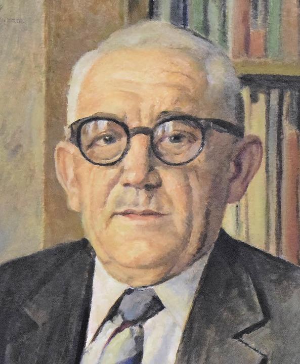 Die Bürgermeisterporträts seit 1945 (v...der Gesamtgemeinde von 1975 bis 1999)     Foto: S. Nöltner