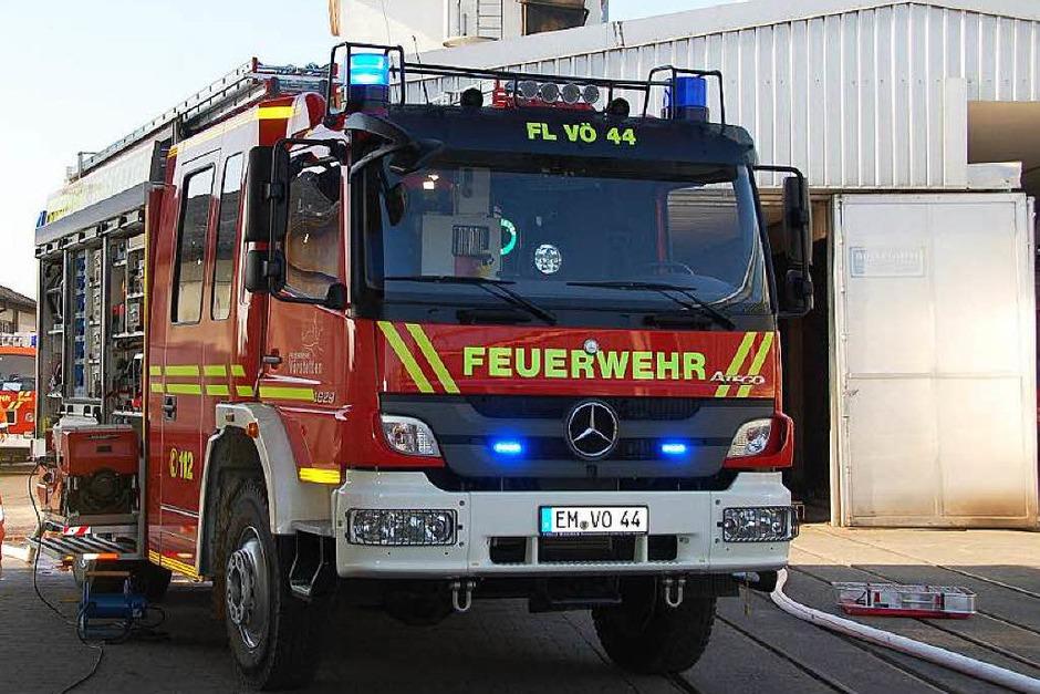 Die Feuerwehren aus Denzlingen, Vörstetten und Reute waren im Einsatz. (Foto: Pia Grättinger )