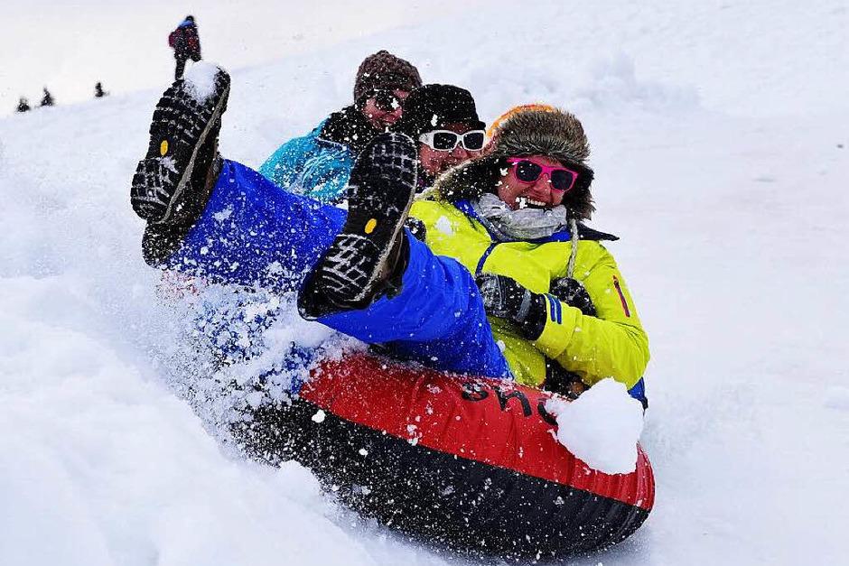 Stimmung, Sonne, Schnee: der achte Ladies Day auf dem Feldberg.<?ZE?> (Foto: Philippe Thines)