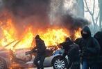 Fotos: Proteste gegen die EZB-Er�ffnung eskalieren