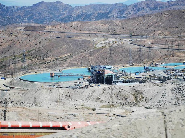 Wasserbehandlung auf dem Gelände der Kupfermine El Teniente in Chile