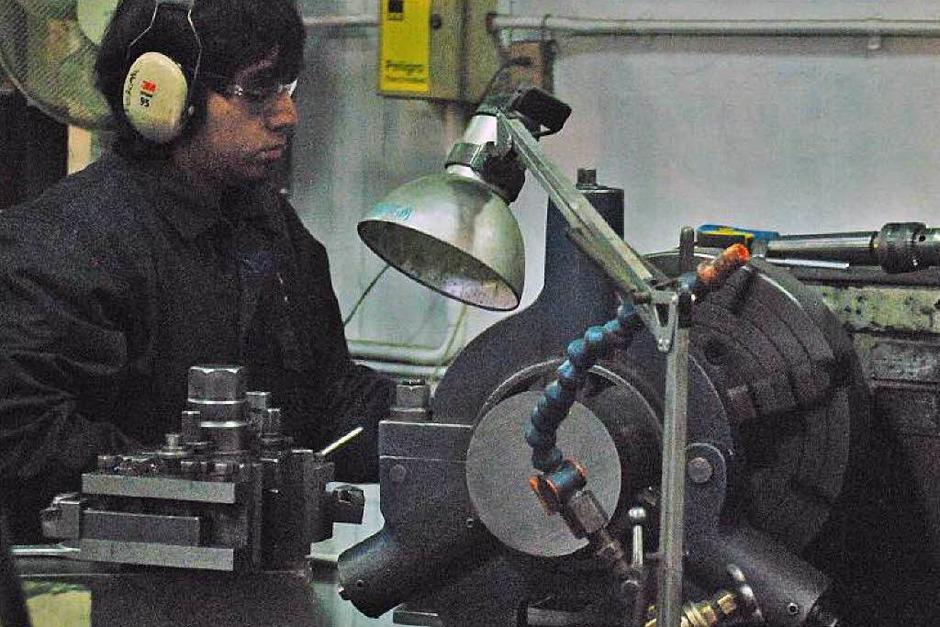 In Santiago bei Maestranza Diesel werden die Motoren der Minenfahrzeuge gewartet und repariert. (Foto: Bkr)
