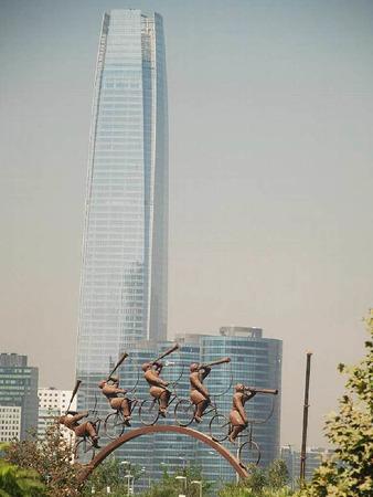 Wolkenkratzer in Santiago