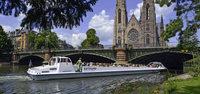 Batoramaboote: Straßburg fast aus der Fischperspektive
