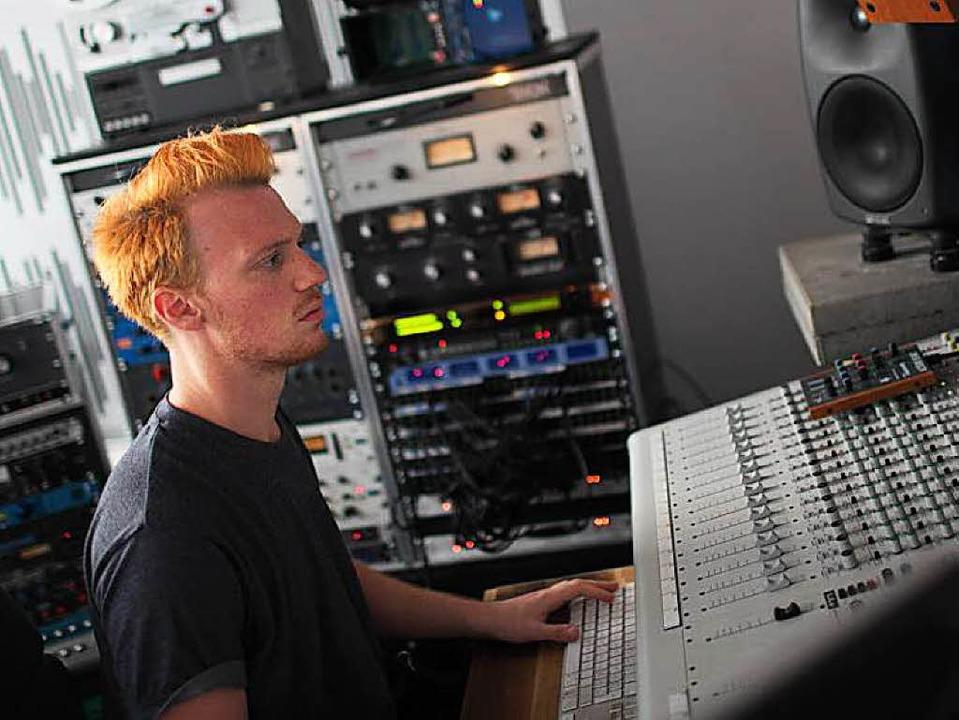 Markus Ganter im Studio     Foto: Hannes Bieger