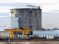 Direktor Rosso verl�sst das Atomkraftwerk Fessenheim