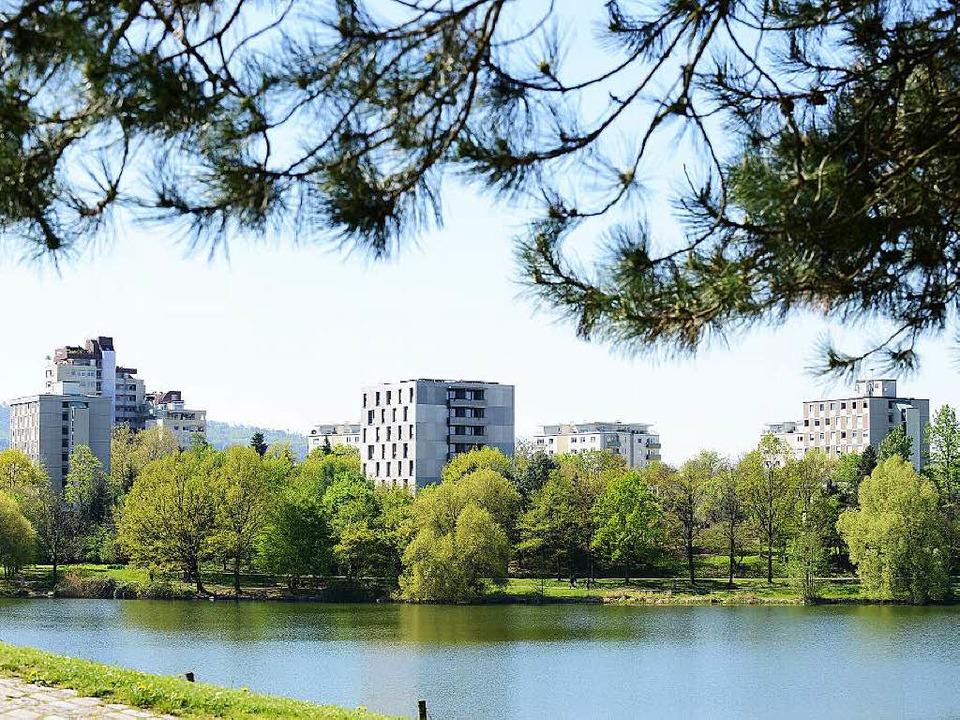Dicht bebaut und mit Top-Freiraumverso...die Studentensiedlung am Flückigersee     Foto: Rita Eggstein