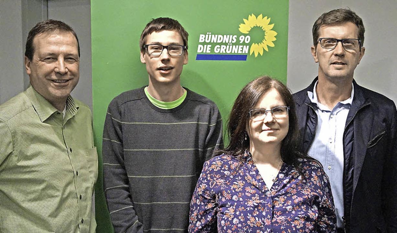 Grünen-Landtagsabgeordneter Thomas Mar...far und Kreisvorsitzender Alfred Baum   | Foto: christine storck