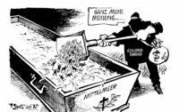 """""""... Schuld ist die europ�ische Asylpolitik!"""""""