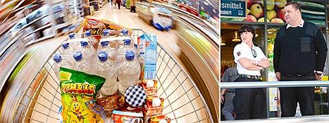 Abschreckung: Sicherheitsdienste bewachen Superm�rkte